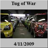 NY International Auto Show - Jacob Javitz Convention Center - American Strongman - Tug of War - NYC